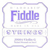 D'Addario J9004 G Fiddle 4/4 Medium